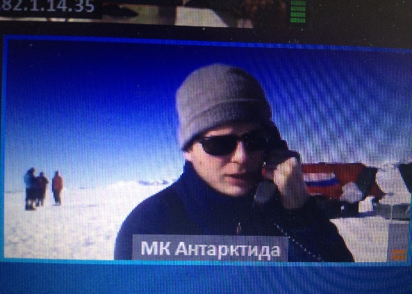 TELECONFERENCE WITH THE RUSSIAN EXPEDITION IN ANTARCTICA 2014